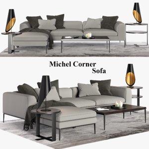 3D michel corner sofa