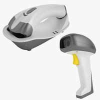 barcode scanner 01 3D model