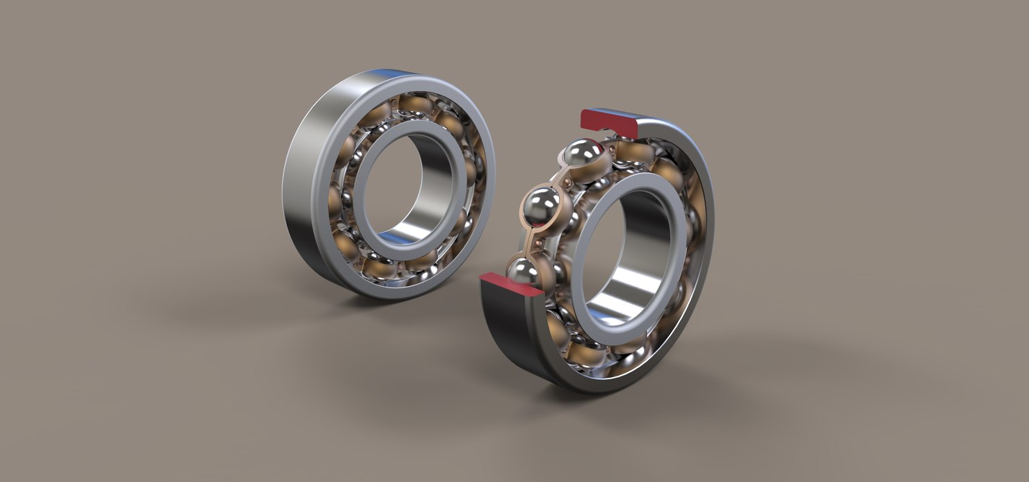 radial ball bearing 3D model