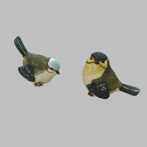 3D bird statue statuette