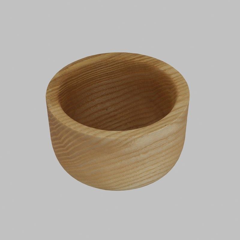 wood wooden bowl 3D model