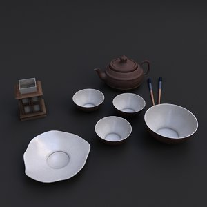 3D dishes china model