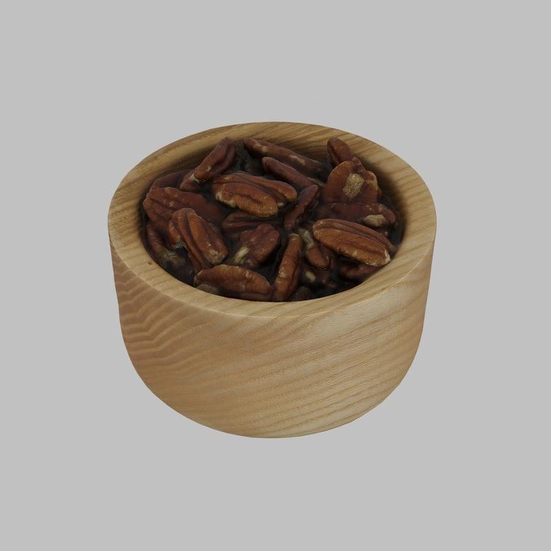 3D wood wooden bowl model