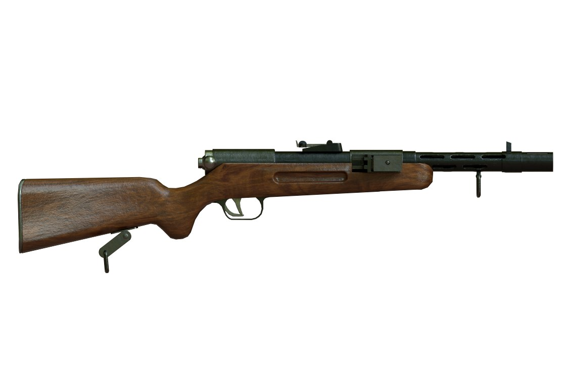 3D bergmann mp35 submachine gun