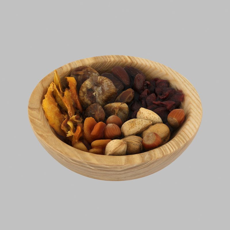 wood wooden bowl model