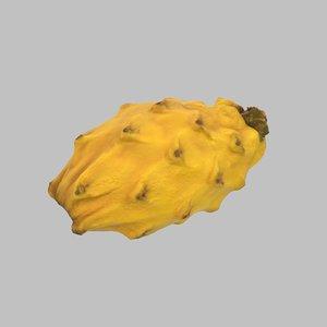 3D model dragon fruit