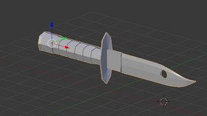 3D knife bayoneta model