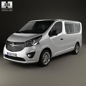 3D vauxhall vivaro passenger model