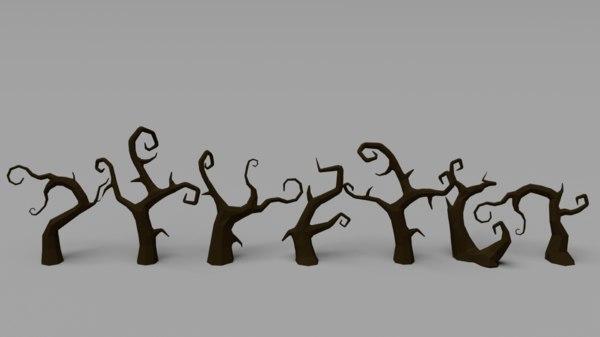 tree pack spooky 3D