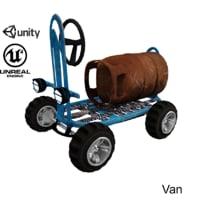 ue4 cartoon race car wheels 3D