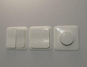 realistic wall light switch 3D model