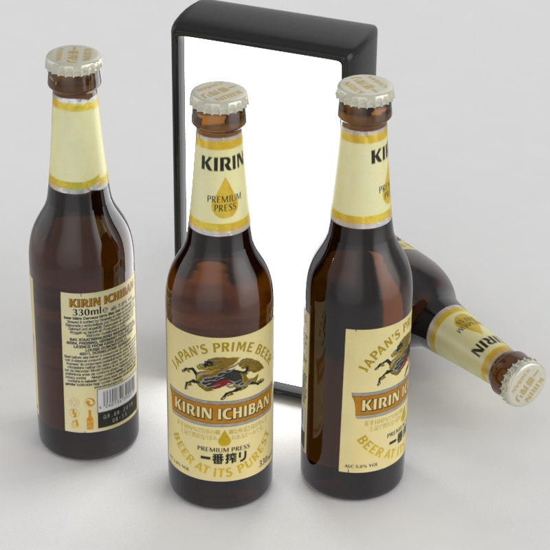 3D beer bottle