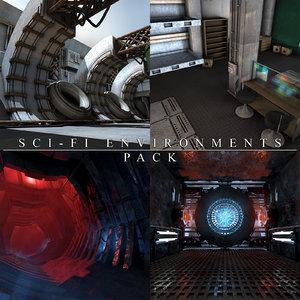 science fiction environment 3D model