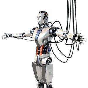 man robot cyborg 3D model