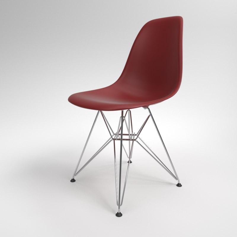 3D interior vitra eames plastic chair