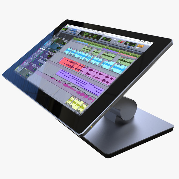 adjustable touchscreen display monitor 3D model