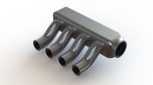 plenum inlet manifold 3D