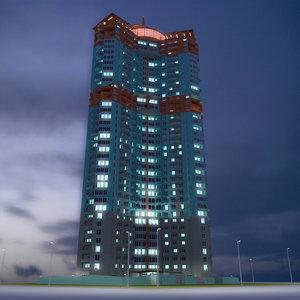 skyscraper 8 3D model
