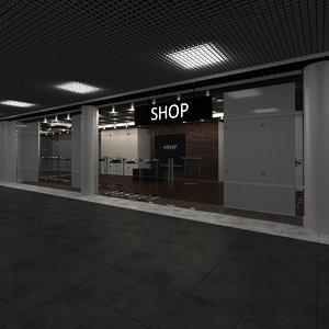 3D modern shop model