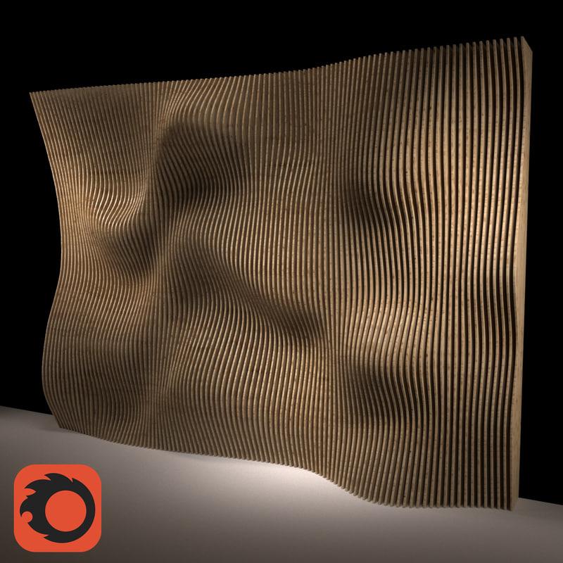 3D parametric wall panel model