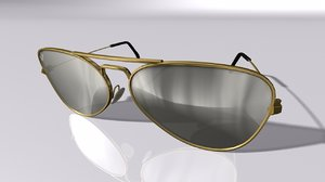 3D aviator sunglasses model
