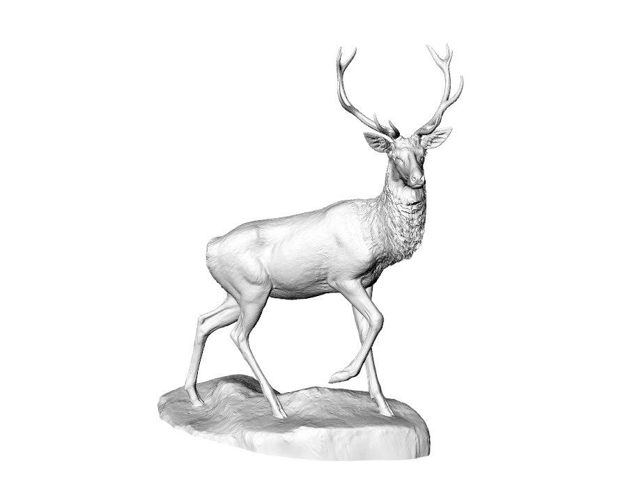 3D sculpture deer