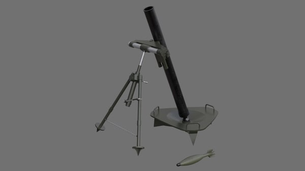 mortar 1a 3D model