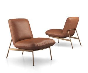 3D model brooks slipper chair west