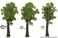 3D pine gaming environment model