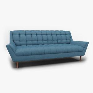 response fabric sofa 3D model
