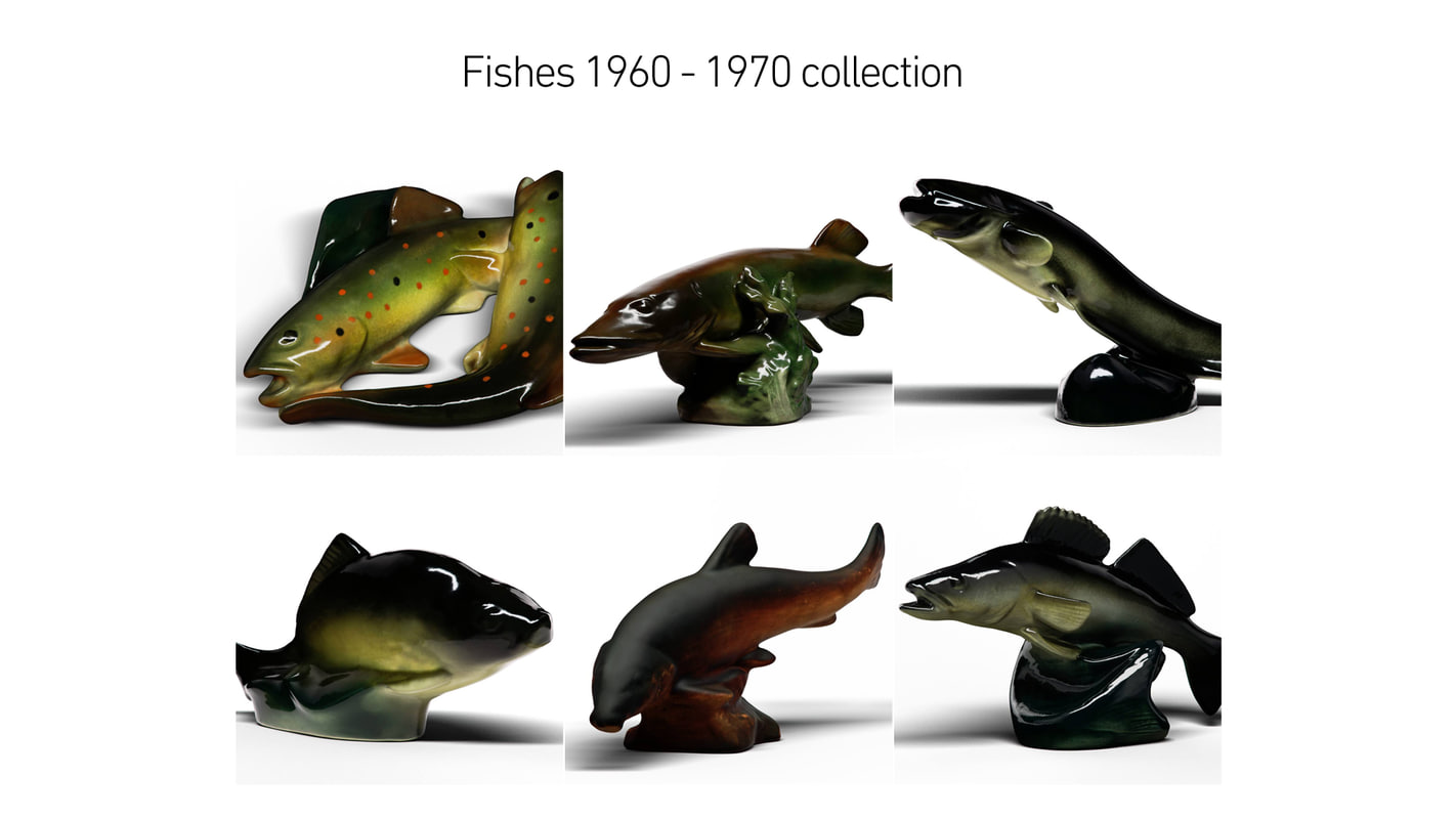 3D fishes 1960 - 1970 model