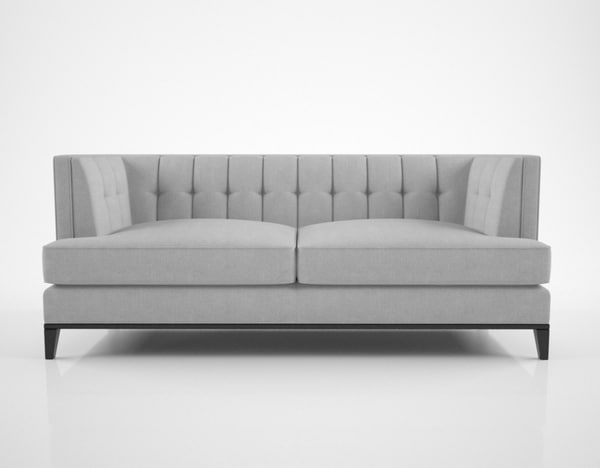 3D sofa chair preston model