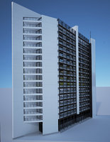 Residential Building 3D model high detailed