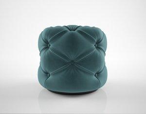 3D model sofa chair windsor ottoman