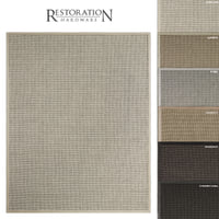 3D restoration sisal rug looped