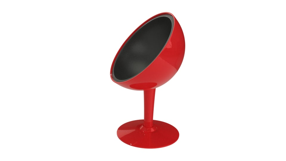 plastic modern chair 3D