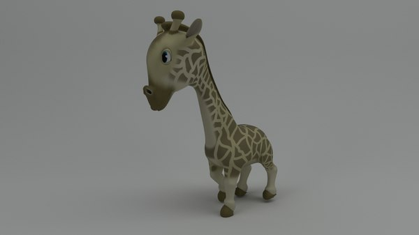 rigged cartoon giraffe model