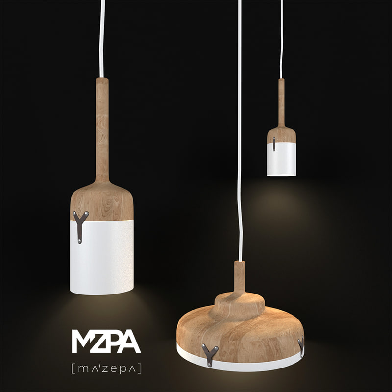 3D model lamp lights nut