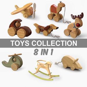 wooded toys 3D model
