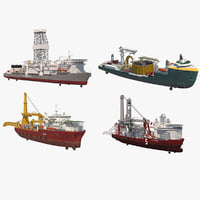 Offshore Oil and Gas Operational Drilling and Laying Vessels
