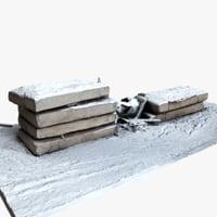 concrete plates 3D