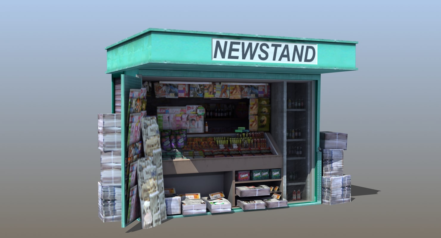 3D news stand kiosk