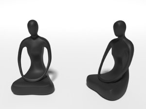 abstract buddha statue 3D model