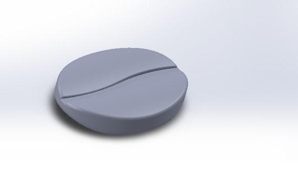3D printed coffee bean