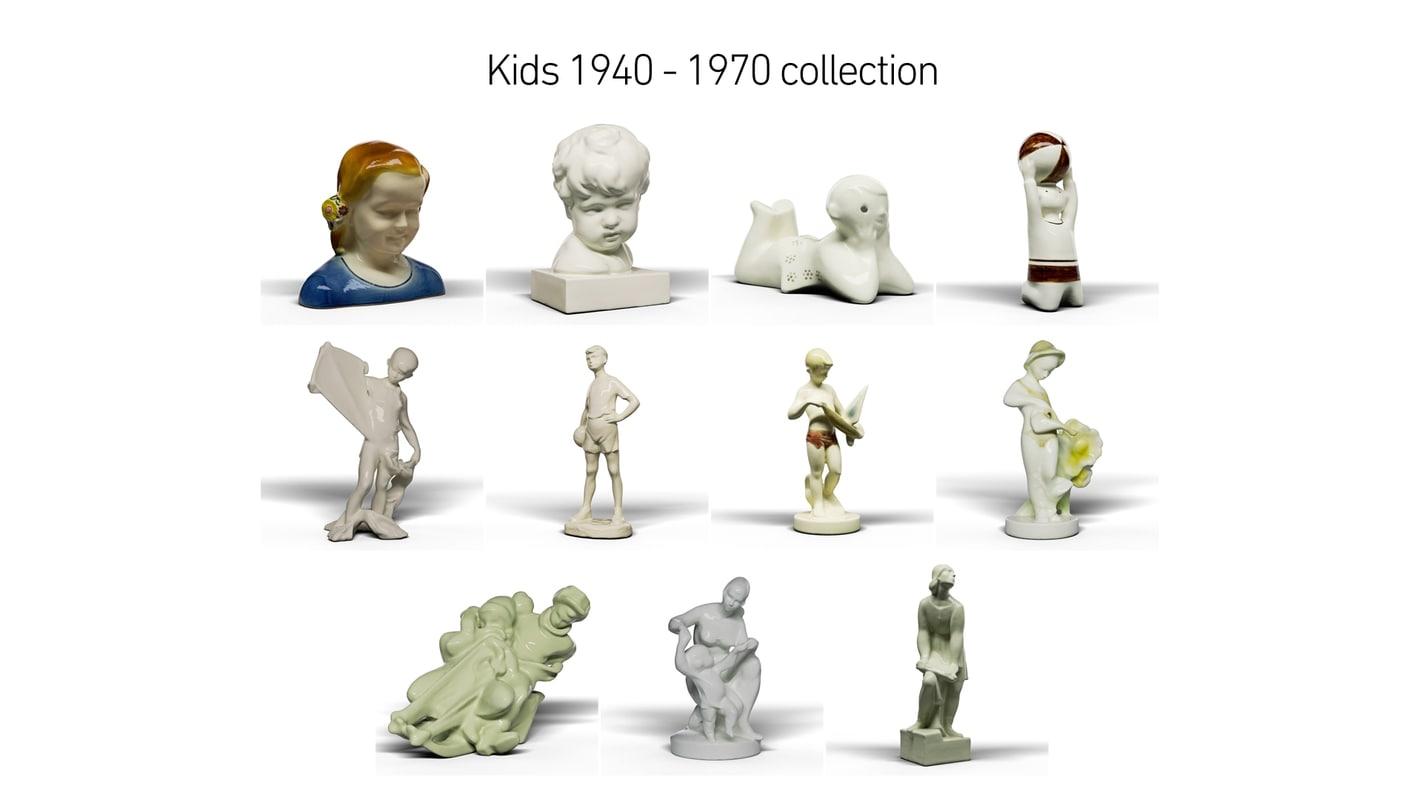 3D model kids 1940 - 1970