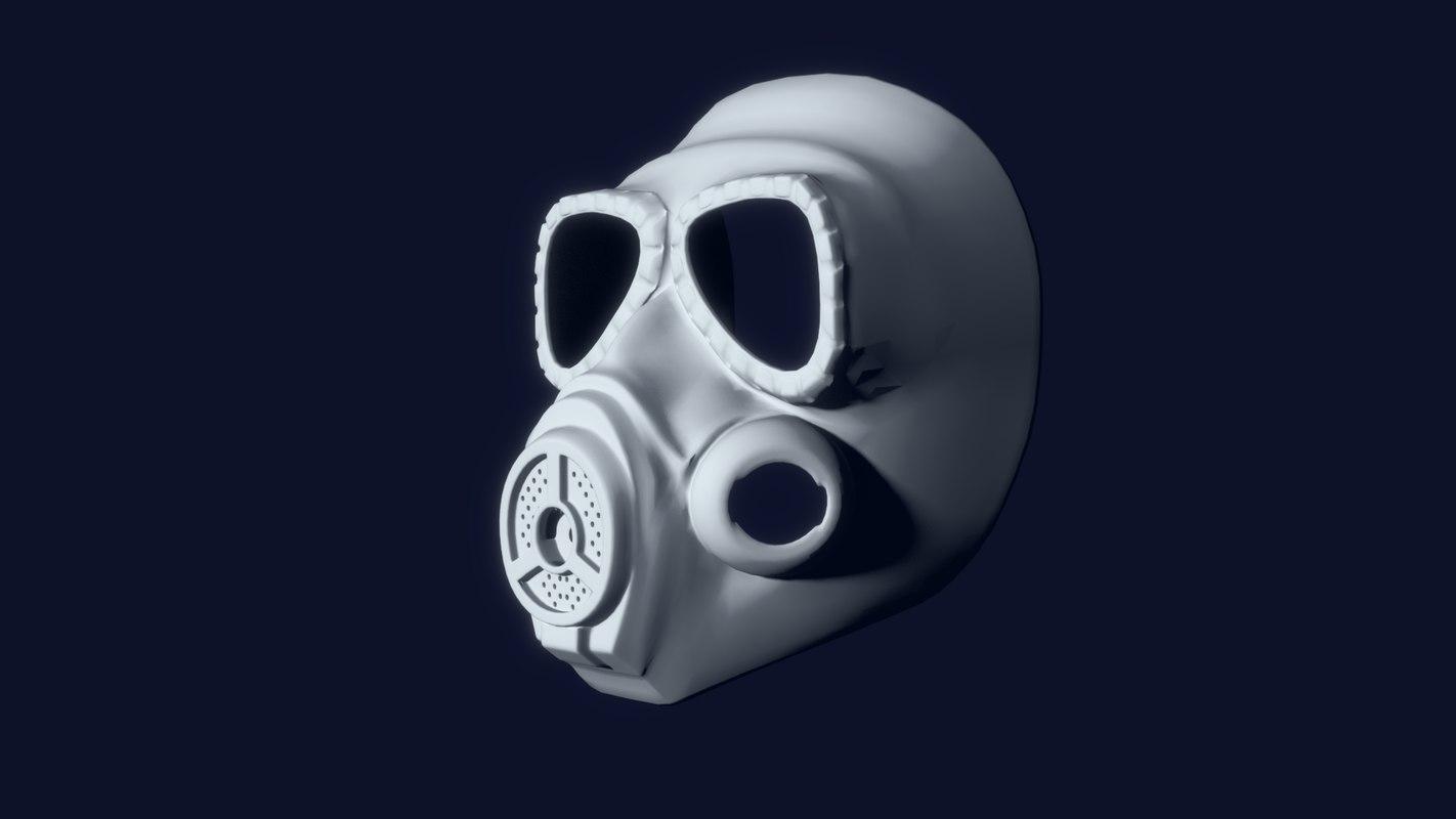 mo4 gas mask 3D model