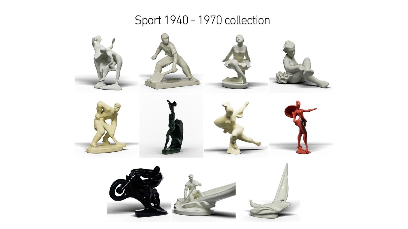 3D sport 1940 - 1970