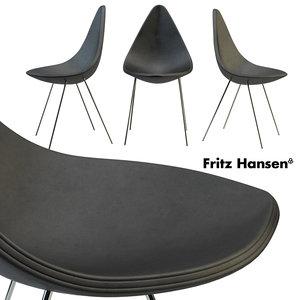 3D drop chair fritz hansen