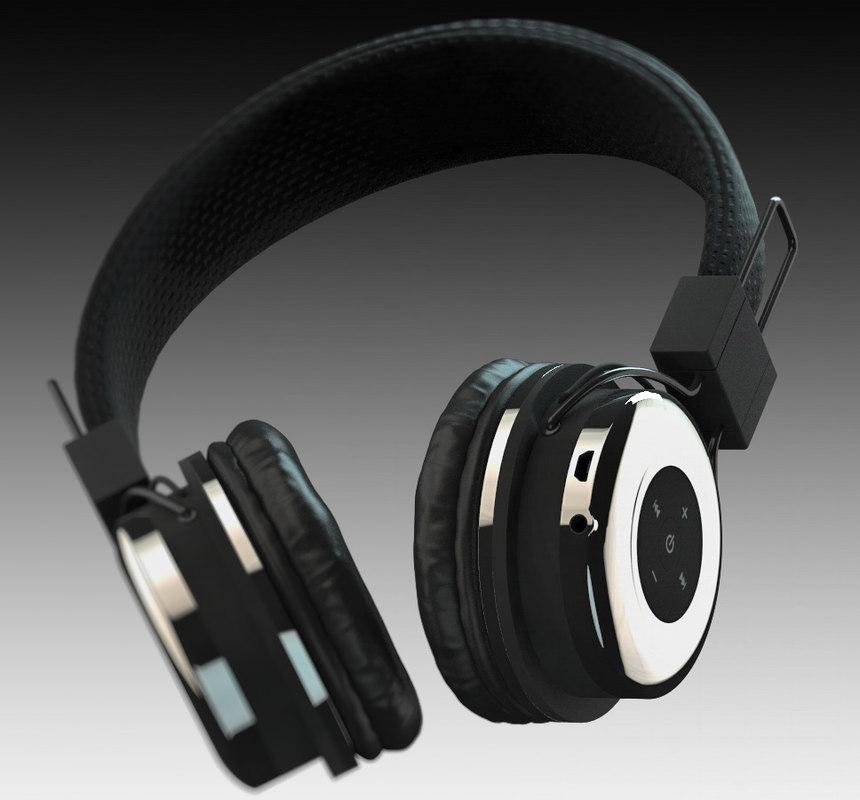 bluetooth tzumi headphones 3D model