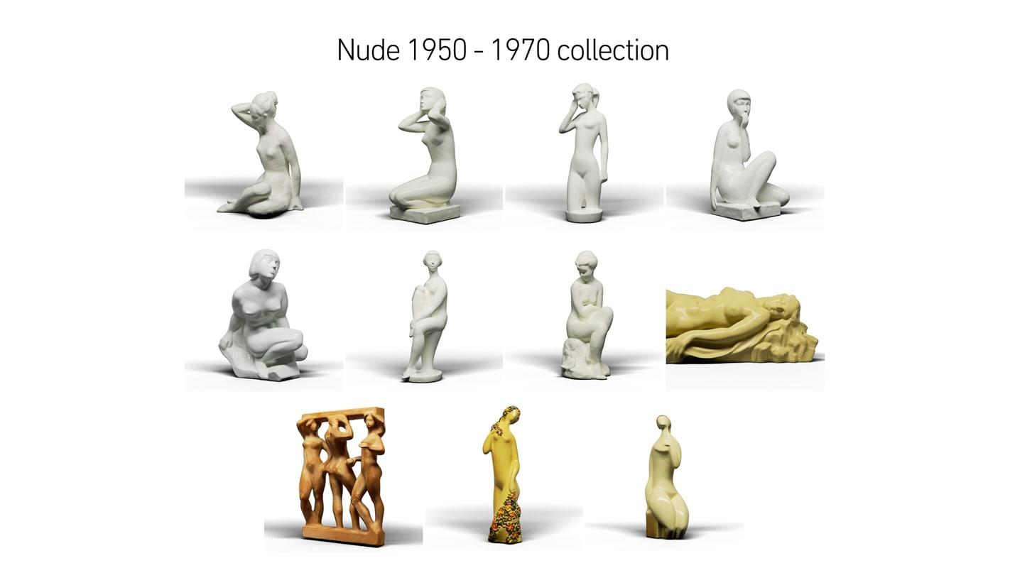 nude 1950 - 1970 model